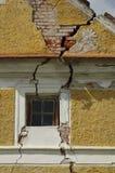 Cracked wall house 2 Royalty Free Stock Photo