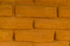 Cracked wall made up of mud-brick and soil Royalty Free Stock Photography