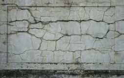 Cracked wall panel Stock Photos
