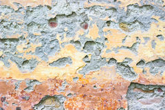 Cracked wall texture. Aging process Stock Photography