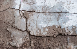 Cracked wall texture cement floor background Stock Photos