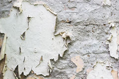 Cracked wall texture. White color Stock Photos