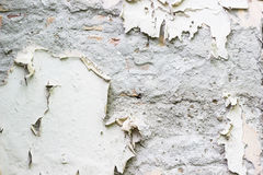 Cracked wall texture. White color Royalty Free Stock Images