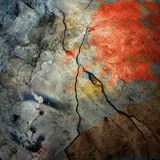 Cracked wall, underground background Stock Images