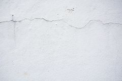 Cracked wall white background texture. With grainy detail stock photos