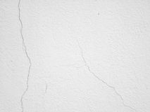 Cracked wall white background texture Stock Photo