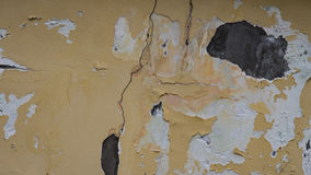 Cracked wall. Cracked yellow wall texture for background Royalty Free Stock Photography