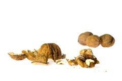 Cracked walnut Royalty Free Stock Image