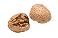 Cracked walnut Royalty Free Stock Photography
