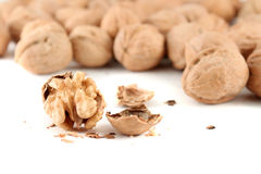 Cracked walnut Royalty Free Stock Photo