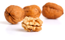 Cracked walnut Stock Photography