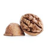 Cracked walnut Stock Images
