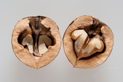 Cracked walnut Stock Photo