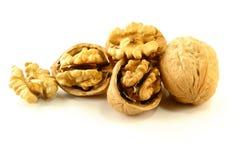 Cracked Walnuts Stock Photo