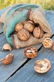Cracked walnuts Royalty Free Stock Photo