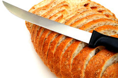 Cracked Wheat Sourdough Bread Stock Photo
