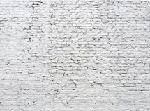 Cracked white brick wall Royalty Free Stock Photo