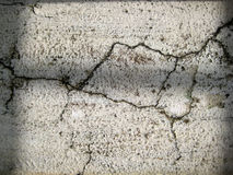 Cracked White colored wall exposed to open air forms texture stock photos