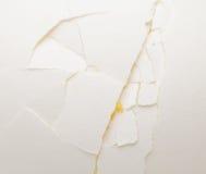 Cracked white egg close up Stock Photo