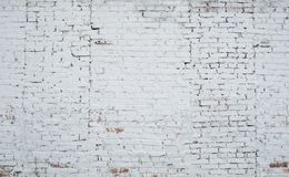 Free Cracked White Grunge Brick Wall Textured Royalty Free Stock Image - 42395316