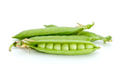 Cracked and whole pea pods Royalty Free Stock Photo