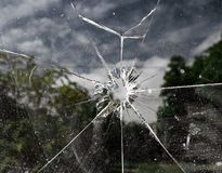 Cracked window Royalty Free Stock Images
