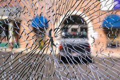 Cracked Window Royalty Free Stock Photos