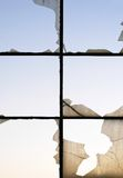 Cracked windows Royalty Free Stock Images
