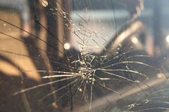 Cracked windshield Royalty Free Stock Images
