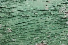 Cracked wood wall Stock Photo