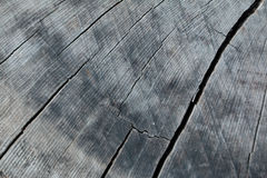 Cracked wooden background. Stock Images