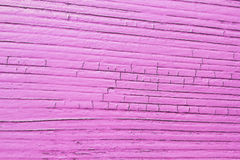 Cracked wooden plank, pink color Stock Photo