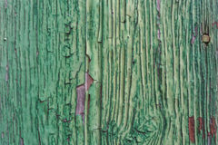 Cracked wooden texture green. Royalty Free Stock Photography