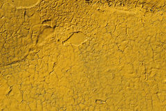 Cracked yellow pain background Stock Photo