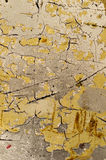 Cracked Yellow Surface Stock Images