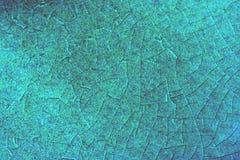 Crackeled蓝色背景 免版税库存图片