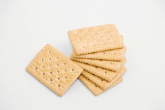 Cracker über Weiß Lizenzfreie Stockbilder