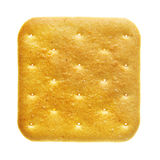 Cracker. Isolated over the white background royalty free stock images