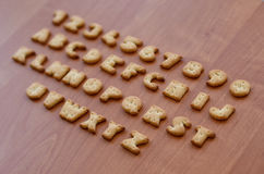 Cracker alphabet characters Stock Photography