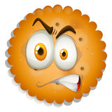 Cracker with angry face Stock Photo