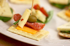 Cracker Appetizers Royalty Free Stock Photography