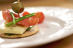 Cracker Appetizers Stock Images