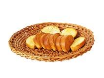 Cracker auf einer Platte für Brot Lizenzfreies Stockfoto