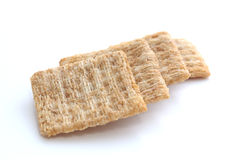Cracker auf Weiß Stockfotos