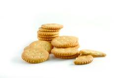 Cracker auf weißem Hintergrund Lizenzfreies Stockbild