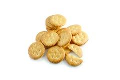 Cracker auf weißem Hintergrund Lizenzfreie Stockfotos