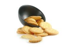 Cracker auf weißem Hintergrund Lizenzfreie Stockfotografie