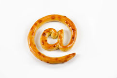 Cracker is baked as email symbol Royalty Free Stock Image