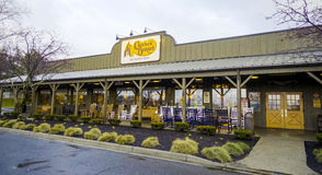 Cracker Barrel restauraunf and country store - NEW YORK CITY - NEW YORK - APRIL 2,2017 Royalty Free Stock Images