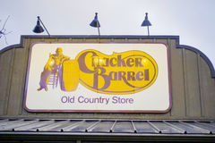 Cracker Barrel restauraunf and country store - NEW YORK CITY - NEW YORK - APRIL 2,2017 stock photos